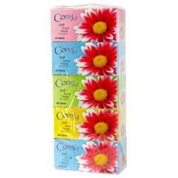 COMFY Facial Tissue - 2 Ply (200's x 5 Boxes)