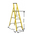 Fiberglass Platform Step Ladder FP-05A  (5 Steps)