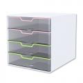 KAPAMAX Crystal Cabinet K15104, 4 Drawer