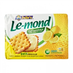 JULIE'S Le-Mond Puff Sandwich - Lemon (Pack of 10)