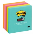 3M Post-it S. Sticky Note 654-5SS 3''x3'', Miami (5 Pads)