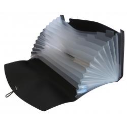 PU Expanding File A4 12 Pockets-Black