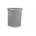 PU METAL ROUND PEN HOLDER DS-004-SILVER