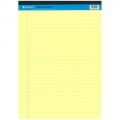 BESFORM Yellow Legal Pad A4, 50 Sheets