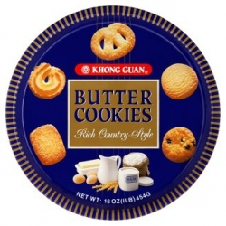 KHONG GUAN Butter Cookies - Tin 454g