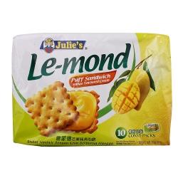 JULIE'S Le-Mond Puff Sandwich - Mango (Pack of 10)