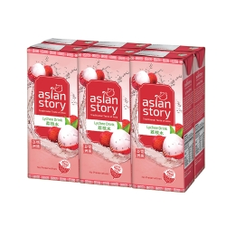 ASIAN STORY Lychee Drink - 250ml x 24 Packets