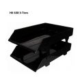 HK Plastic Tray 638, 3-Tiers (Black)