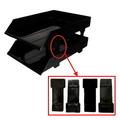 HK Plastic Tray Riser, 4's (Black)