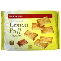 KHONG GUAN Lemon Puff Biscuits (Pack of 10)
