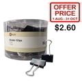 POP BAZIC Blk Binder Clip PB3211, 51mm 12's