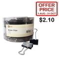 POP BAZIC Blk Binder Clip PB3213, 32mm 24's