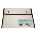 BINDERMAX A4 Colour Edge Button Wallet 01130 (Clear/Blk)
