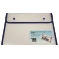 BINDERMAX A4 Colour Edge Button Wallet 01130 (Clear/Blue)