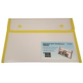 BINDERMAX A4 Colour Edge Button Wallet 01130 (Clear/Yel)