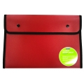 BINDERMAX A4 Black Edge Button Wallet 01130 (Burgundy)