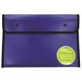 BINDERMAX A4 Black Edge Button Wallet 01130 (Dark Blue)