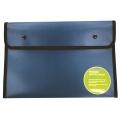 BINDERMAX A4 Black Edge Button Wallet 01130 (Dark Green)