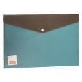 BINDERMAX A4 Two Tones Button Wallet 01145-1 (Light Blue)