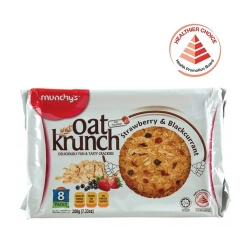 MUNCHY'S Oat Krunch-Strawberry & BlackCurrant 8's (HCS)