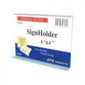 "STZ Horizontal Acrylic  Sign Holder, 6x4"""