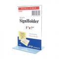 "STZ  Vertical  Acrylic Sign Holder 5x7"""