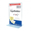 "STZ  Vertical  Acrylic Sign Holder 6x8.5"""