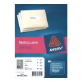 AVERY White Mailing Label, 46 x 11.1mm x 8400's