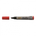 BIC Permanent Marker 2300 Chisel Tip Red