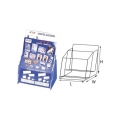 STZ Acrylic Leaflet Holder 50831 A4 2-Tier