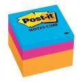 """3M Post-It Neon Mini Cube 2051-OCW 2""""x2"""""""
