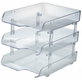 KAPAMAX Crystal Paper Tray, 3-Tiers