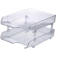 KAPAMAX Crystal Paper Tray, 2-Tiers