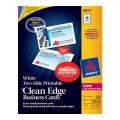 AVERY Clean Edge Business Card 5871 - Laser Print 200's