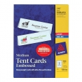 AVERY Tent Card 5305, 2.5'' x 8.5'' 100's