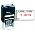 """SHINY Dater Self-Ink Stamp S404 """"APPROVED with Date"""""""