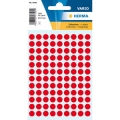 Herma Label 1842 ø8mm  Red (540 Labels/Pack)