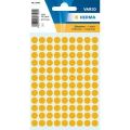 Herma Label 1844 ø8mm L-Org (540 Labels/Pack)