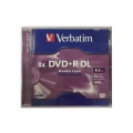 VERBATIM DVD+R Dual Layer 8X, Jewel Case 1's