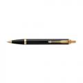 Parker IM Basic Lacquered Black Gold Trim Ball Point Pen
