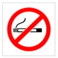 Cosmo No Smoking Sign