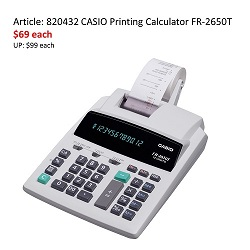 Casio FR-2650T Calculator 12 Digits