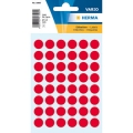 Herma Label 1862 ø12mm Red (240 Labels/Pack)