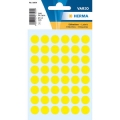 Herma Label 1861 ø12mm Yel (240 Labels/Pack)