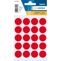 Herma Label 1872 ø19mm Red (100 Labels/Pack)