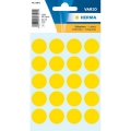Herma Label 1871 ø19mm Yellow (100 Labels/Pack)