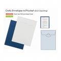 PLUS Gusseted Data Bag, A4 Potrait (Blue)