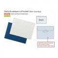 PLUS Gusseted Data Bag, A4 Landscape (Blue)