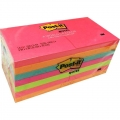 """3M Post-It Notes 3""""x3"""" Neon 654-14AN"""