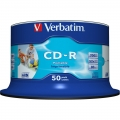 VERBATIM CD-R 52X Printable, Spindle 50's